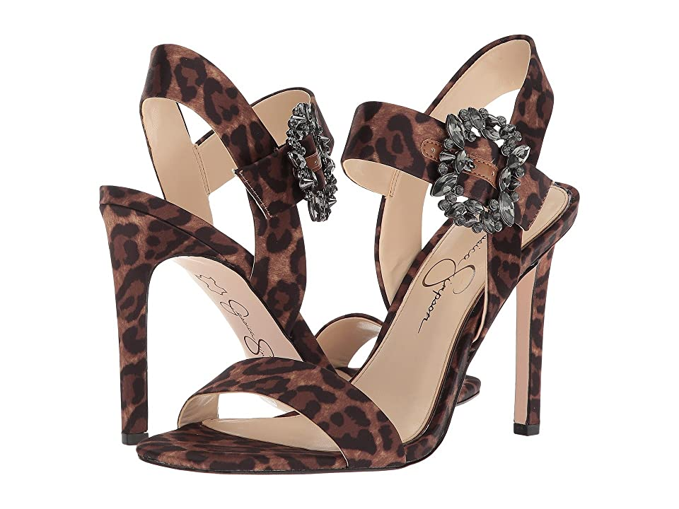 Jessica Simpson Bindy (Natural Alicia Leopard Print Satin) Women