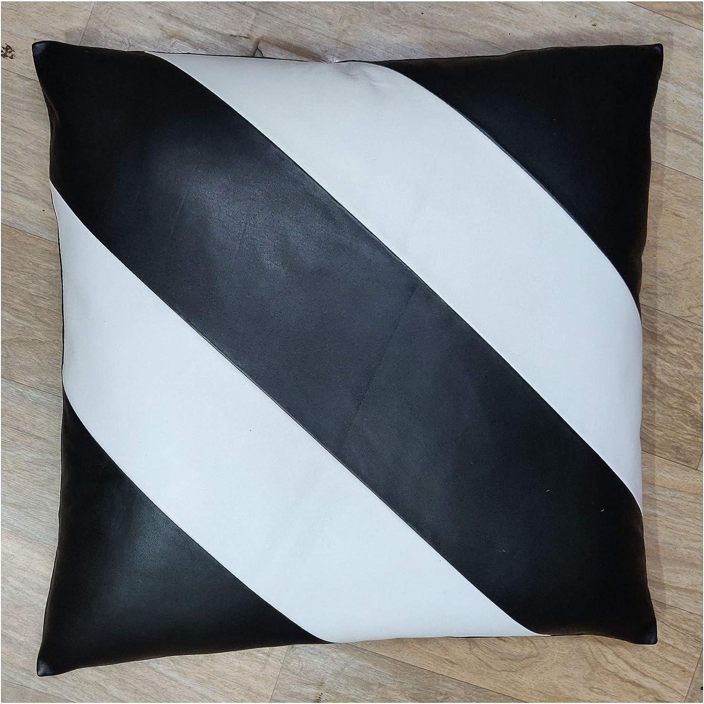 返品送料無料 Leather Market 100% Lambskin Pillow Sofa Cushion セール 特集 - Cover