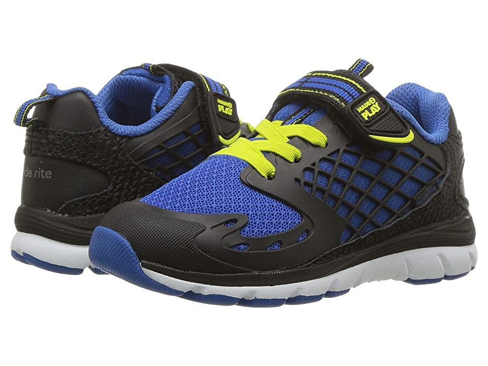 Stride Rite M2P Breccen (Toddler) (Black/Lime) Boys Shoes