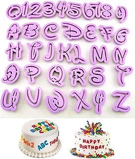 Set of 36pcs DIY Letter Number Cake Mould Fondant Sugarcraft Cookie Plunger Cutter Mold Decorating Tools