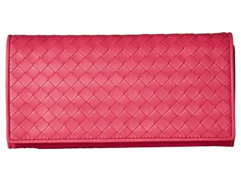 Bottega Veneta Intrecciato Velvet Calf Continental Wallet