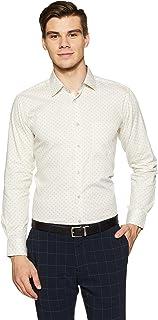 Diverse Men's Printed Regular Fit Full Sleeve Cotton Formal Shirt