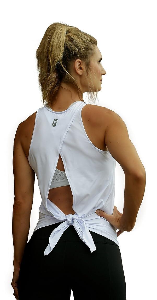 MUV365 Women's Lightweight Open Back Workout Tank Top Yoga Sleeveless Shirt