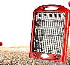 HWZZ Mini Calentador Eléctrico Portátil De Mano, Calentador De Estufa De Invierno, Calentador Eléctrico Radiante De Cuarzo para Dormitorio, Oficina,Rojo,220V