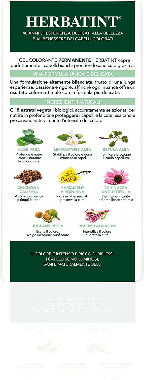 Herbatinti 5N - LIGHT CHESTNUT- Tinte permanente, color castaño claro, 150 ml
