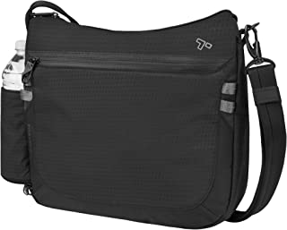 Travelon Anti-Theft Active Medium Crossbody Messenger Bag, Black (Black) - 43128 500