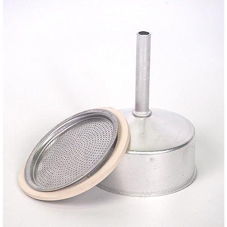 Sanfor Repuesto Cafetera Italiana 12 Tazas   Recambio Embudo + Filtro + Junta   Aluminio Caucho   Diámetro 82 mm
