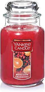 Yankee Candle Company Large Jar Mandarin Cranberry Scented Premium Paraffin Grade Candle Wax with up to 150 Hour Burn Time, one Size