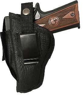 Gun Holster fits Beretta APX (9mm or .40 S&W) Black Nylon Ambidextrous Use Left or Right Built in Magazine Holder Adjustable Retention Strap Gun Slinger Holster