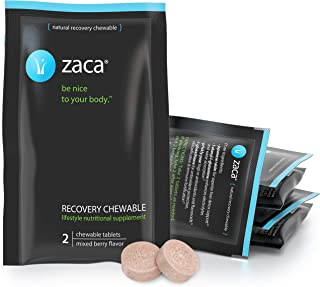 Zaca Recovery Chewable Supplement | Hydration + Liver Aid | Party, Travel, Exercise & Altitude | Sugar Free...