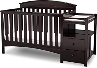 Delta Children Abby Convertible Crib and Changer, Dark Chocolate