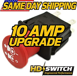 Grasshopper 120k 124 126 327EFI 327A 327KW 329 329B 335B 428D 430 432 430D, 124/41, 124/48, 124/52, 120, 126/52 PTO Switch 10 AMP Upgrade HD Switch