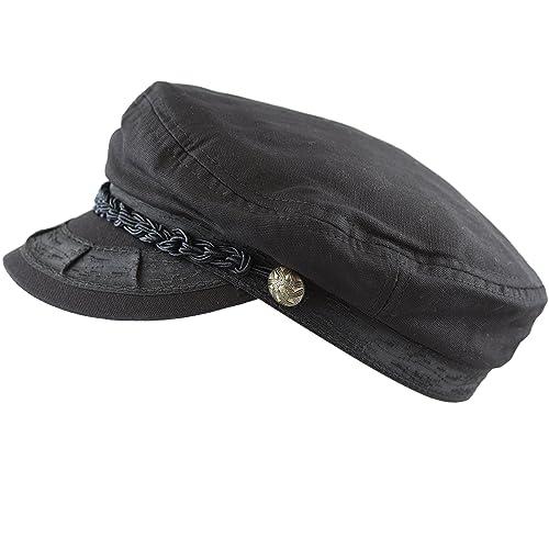 THE HAT DEPOT Unisex Cotton Yachting Style Sailing Greek Fisherman Cap hat 569bcef9e5f9
