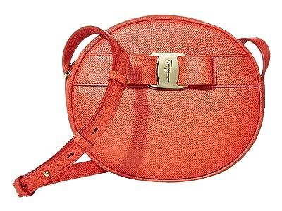 Salvatore Ferragamo Vara Circle Crossbody (Arid Coral) Handbags