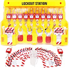 TRADESAFE XL Lockout Tagout Station met Loto-apparaten. 12 Pack Safety Lock Set, 4 Hasp, 40 Niet bedienen Tags. Lock Out T...