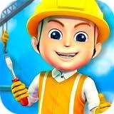 Construire villes Jeux enfants : jeu de construction pour enfants - excavateurs, camions et grues pour construire la ville ! gratuit