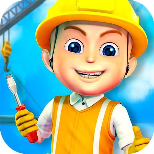Städte bauen Kinderspiel : Bau-Spiel für Kinder - Bagger, LKW und Kran die Stadt zu bauen ! KOSTENLOS