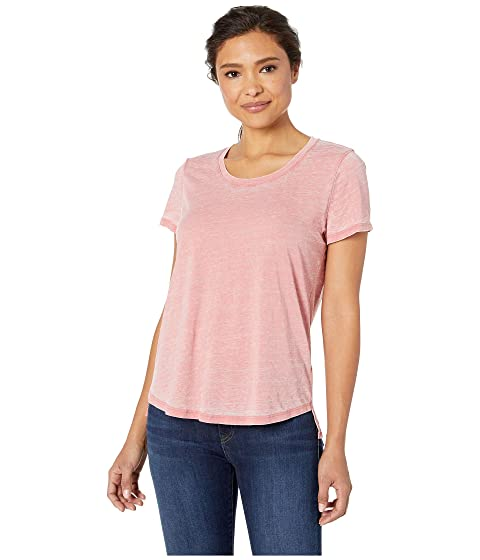 eb45d7775 TWO by Vince Camuto Short Sleeve Burnout Jersey Scoop Neck Tee at ...