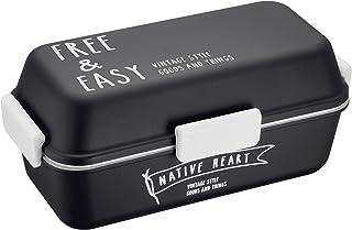 正和 『お弁当箱』 NATIVE HEART NH スクエア MC ランチ FREE&EASY ブラック 76473