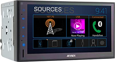 Jensen CMR682 6.8 inch Double DIN Bluetooth Car Stereo Digital Media Receiver with..