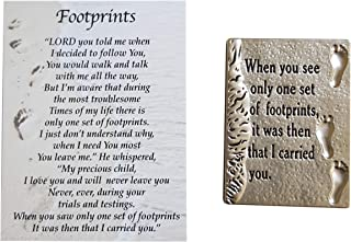Ganz Footprints in The Sand Charm Pocket Token with Story Card ~ When You See Only Set of Footprints, it was Then That I Carried You