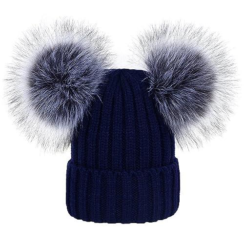 Double Pom Pom Hat: Amazon co uk