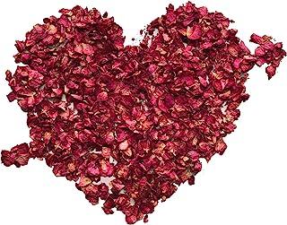 XCOZU 100 Gramos Pétalos de Rosa Naturales Real Secos Pétalos para Baño Pies Boda Confeti DIY Accesorios de Manualidades