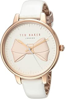87d06acbd3f Ted Baker Women s Brook Stainless Steel Quartz Watch with Leather Strap