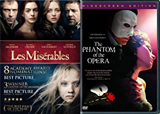 Broadway Musicals 2-Movie Pack - Les Miserables & The Phantom of the Opera 2-Movie Bundle