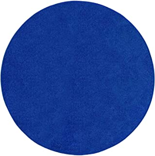 Bright House Solid Color Round Shape Area Rugs Neon Blue - 4' Round