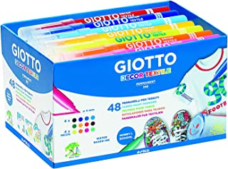 Giotto 494700 - Pack 48 rotuladores decorativos para tejidos