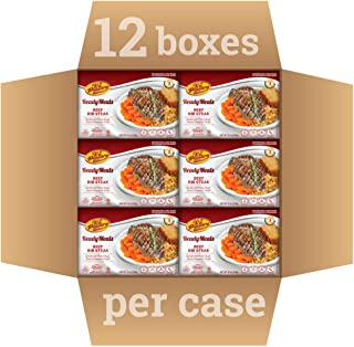 Kosher Mre Meat Meals Ready to Eat, Beef Rib Steak (12 Pack) 42g Protien - Prepared Entree Fully Cooked, Shelf Stable Microwave Dinner – Travel, Military, Camping, Emergency Survival Canned Food Kit