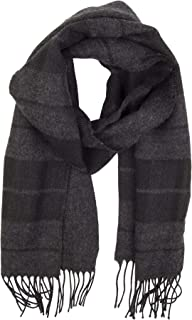 Men's Soft Winter Scarf, black casual, One Size
