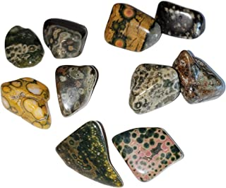 2pc Set Ocean Orbicular Jasper Medium/Large AA-Grade Tumbled & Polished Natural Healing Crystal Gemstone Specimens from Ma...