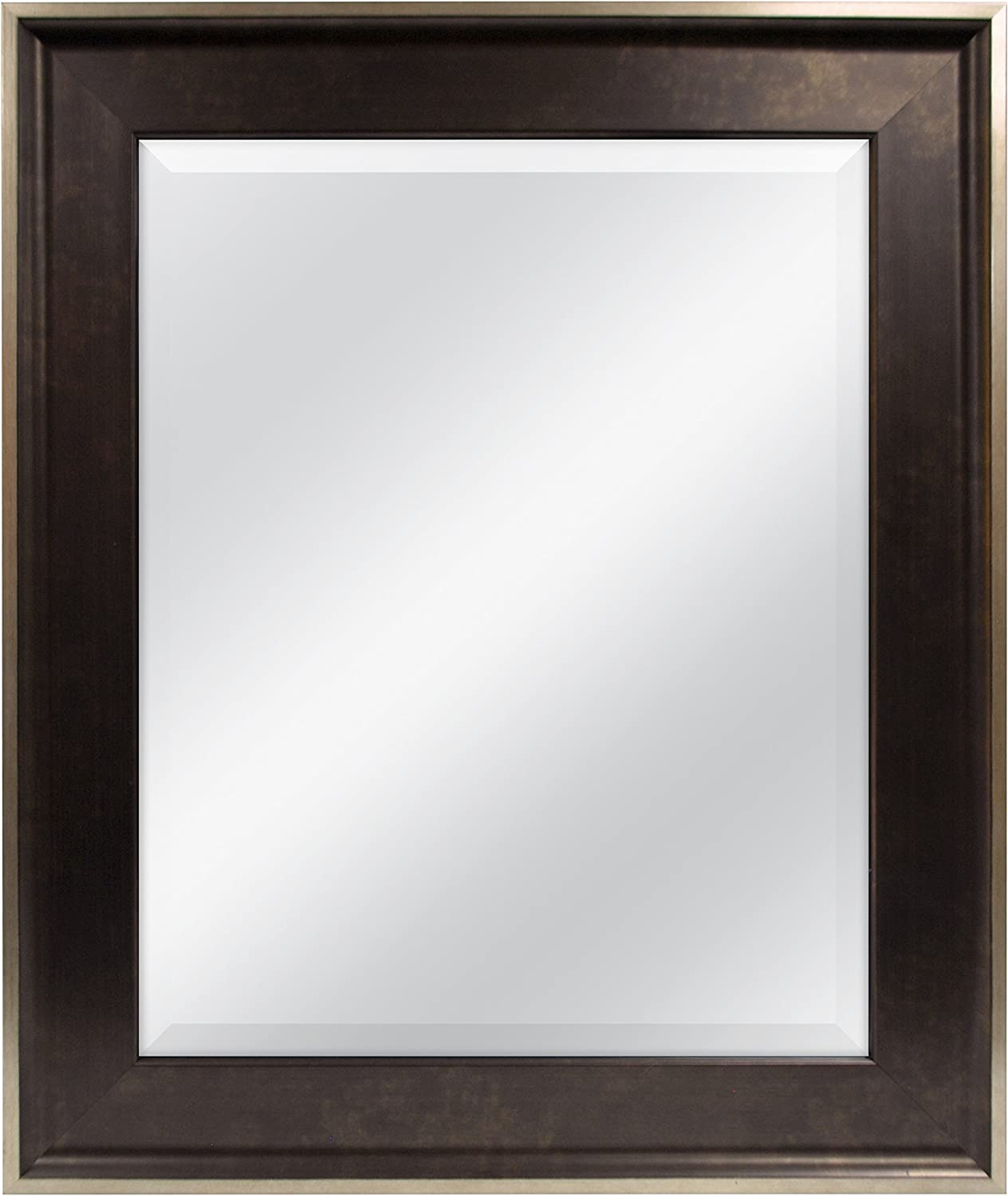 MCS 16 by 20-Inch Beveled Mirror, 22 by 16-Inch, Champagne Edge Finish, Two-Tone Bronze