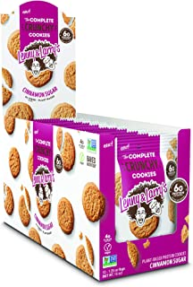 Lenny & Larry's The Complete Crunchy Cookies, Cinnamon Sugar, 20g Vegan Protein, 1.25oz Single Serve Bags, 12 Count