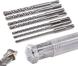 KSP-Tec | SDS Plus set de forets | forets à marteau pour béton avec 4 tranchants dans les tailles 5,6,6,8,8,10,12 x 160 - ...