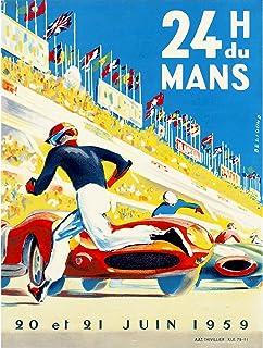 SPORT MOTOR RACE 24 HOUR LE MANS FRANCE 30X40 CMS FINE ART PRINT POSTER
