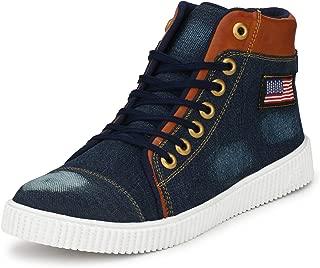 Flooristo Casual Sneaker Mid Ankle Denim Boot for Boys/Shoes for Men