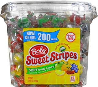 Bob's Sweet Stripes Soft Fruity Candy 200 Pieces