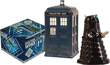 Doctor Who Tardis vs Dalek Salt and Pepper Shaker - BBC Licensed