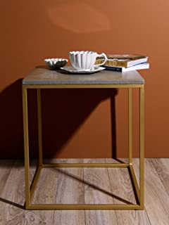"""Best Home Fashion Piers Square Concrete Table - Concrete - 18"""" W x 18"""" D x 20"""" H"""