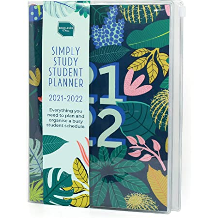Boxclever Press Student Planner 2021-2022. Academic Diary 2021-2022 Week To View A5 runs Aug'21 - Aug'22. Mid Year Diary 2021-2022 for Students. 2021-2022 Diary for Study Schedules with Ziplock Pocket