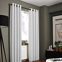 Kenneth Cole Reaction Home Gotham Texture Lined Grommet 84-Inch Window Curtain Panel in White