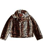 Faux Fur Leopard Chubby (Big Kids)