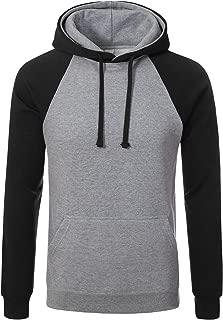 Men's Premium Heavyweight Two-Tone Raglan Pullover Hoodie Sweatshirts