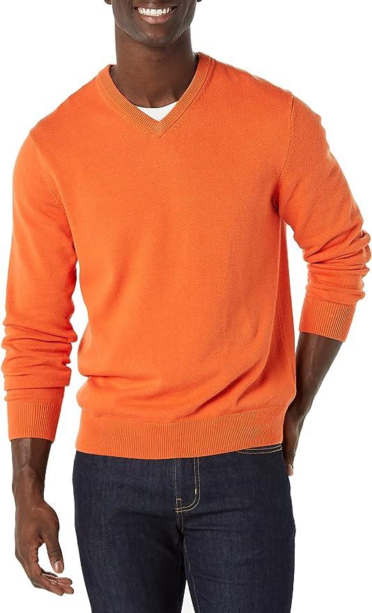 1960s Mens Shirts | 60s Mod Shirts, Hippie Shirts Amazon Essentials Mens V-Neck Sweater  AT vintagedancer.com
