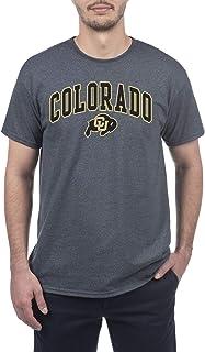 Elite Fan Shop Colorado Buffaloes Men's Short Sleeve Charcoal Gray Arch Tee, XX-Large