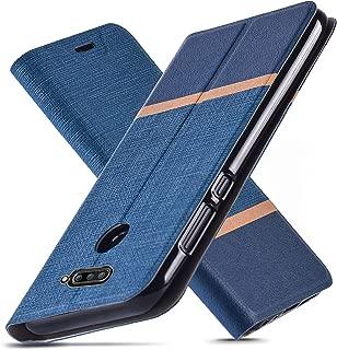 LG V40 Case,LG V40 ThinQ Case,Ultra Slim fit,Kickstand,Card Slot,TPU Bumper,Anti-Scratch,Flip Leather PU Wallet Case for LG V40 ThinQ/Storm (Blue)