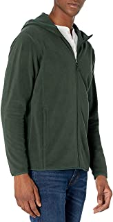 Amazon Essentials Men's Long-Sleeve Hooded Full-Zip Polar Fleece Jacket